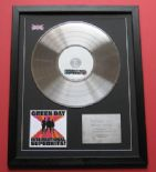 GREEN DAY - International Superhits CD / PLATINUM PRESENTATION DISC